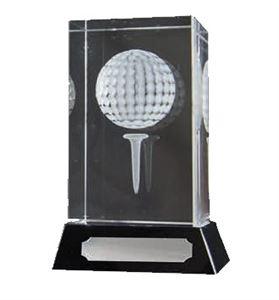 3D Glass Golf Ball Award - 67/9