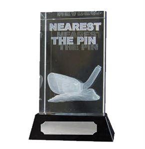 3D Glass Nearest The Pin Golf Award - 67/7