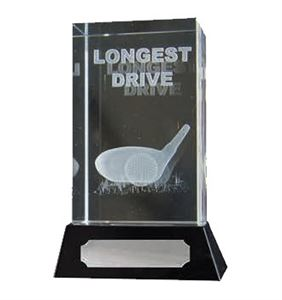 3D Glass Longest Drive Golf Award - 67/8
