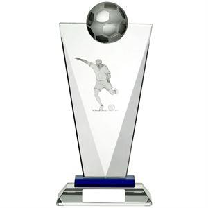Pinnacle Glass Football Plaque - GLF73