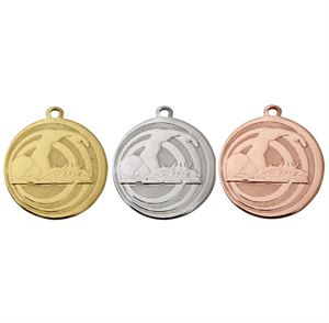 Pack of 100 Focus Swimming Medals with Ribbons & Text Labels (32mm) - ME.094/SET100