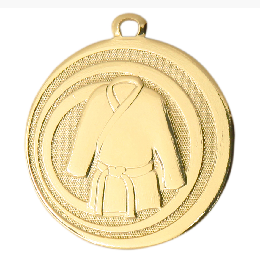 Pack of 100 Focus Martial Arts Medals with Ribbons & Text Labels (45mm) - ME.093/SET100