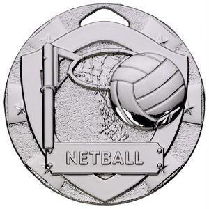 Mini Shield Netball Medal - G791 Silver