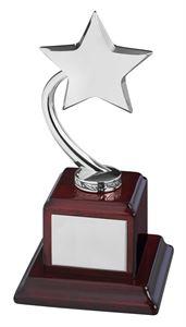 Bright Finish Silver Shooting Star Award - TZ002S