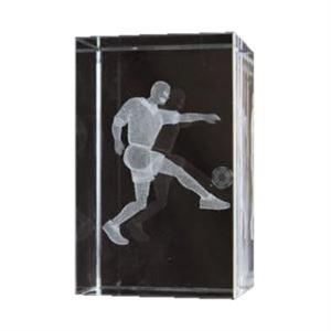 Bulk Purchase - 3D Glass Footballer Award Small - GC9