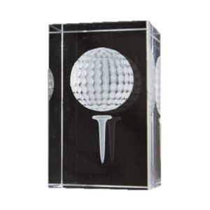 Bulk Purchase - 3D Glass Golf Ball Award - GC1
