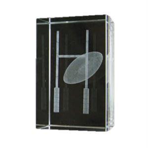 Bulk Purchase - 3D Glass Rugby Award - GC6
