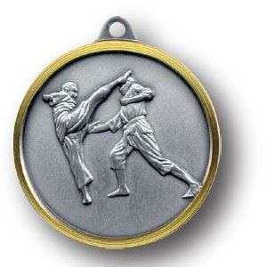 Bulk Purchase - Flying Kick Martial Arts Brass Medal - 251