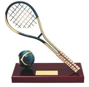 Tennis Racket Handmade Metal Trophy - 418