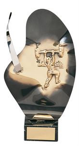 Contemporary Weightlifting Handmade Metal Trophy - 783