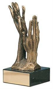 Beseeching Hands Handmade Metal Trophy - 578