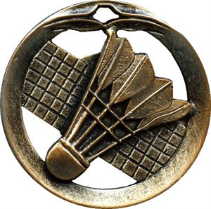 Circular Frame Badminton Medal - MTL901