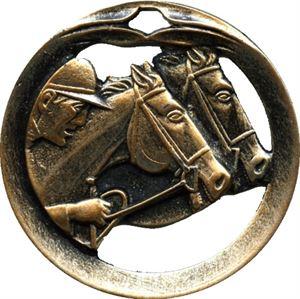 Circular Frame Horse Racing Medal - MTL909