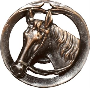 Circular Frame Horse Medal - MTL920