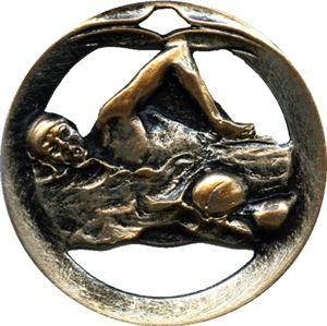 Circular Frame Swimming Medal - MTL905