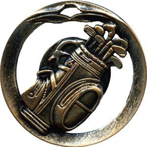 Circular Frame Golf Medal - MTL908