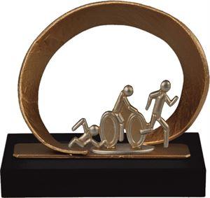 Oval Frame Triathlon Pewter Trophy - BEL740-029