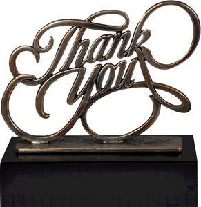 Pewter Thank You Trophy - TRL733