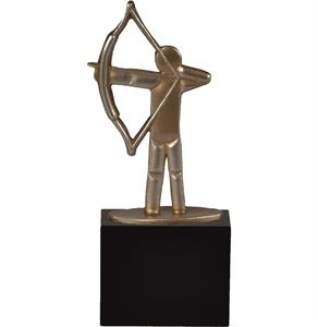 Archery Gold Pewter Figure Trophy - BEL012