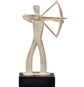 Bulk Purchase - Archery White Pewter Figure Trophy - BEL488