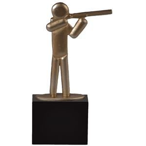 Gold Pewter Shooting Trophy - BEL026