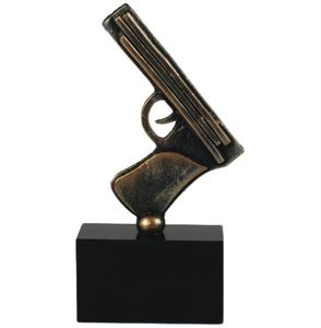 Pewter Pistol Trophy - BET055