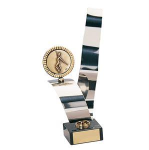 Majorette Handmade Silver Metal Strip Trophy - CD48-782