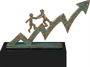 Business Growth Pewter Trophy - TRL720C