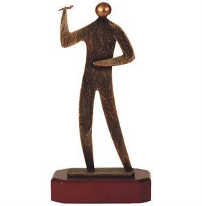 Darts Figure Pewter Trophy - BEL248