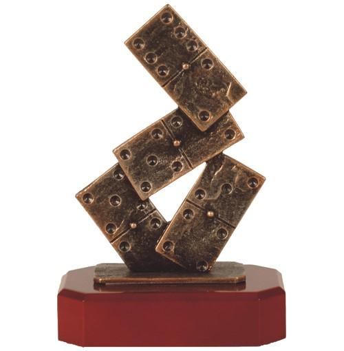 Dominoes Pewter Trophy - BEL185