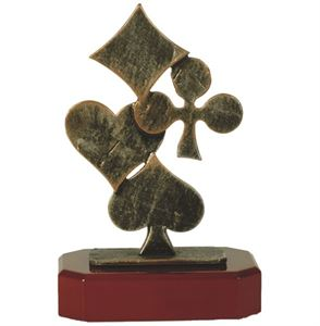 Pewter Cards Trophy - BEL171