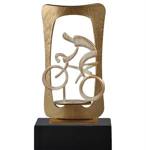 Gold Frame Cycling Pewter Trophy - BEL700-461