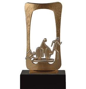 Gold Frame Triathlon Pewter Trophy- BEL700-029