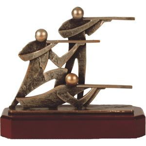 Rifle Shooting Pewter Trophy - BEL235