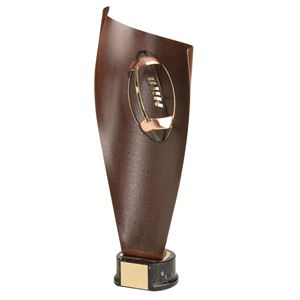 Gold Rugby Handmade Metal Trophy - 1109
