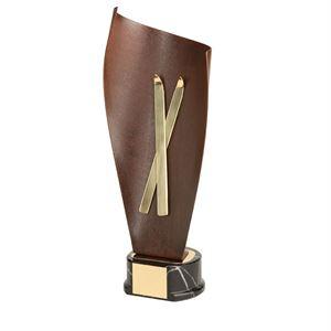 Gold Skis Handmade Metal Trophy