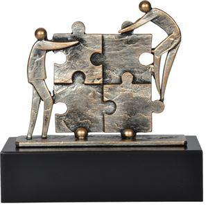 Pewter Team Building Jigsaw Award - TRL450
