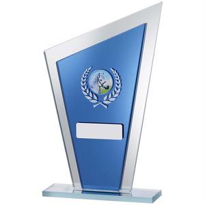 Shard Blue Mirror Glass Award - GE151