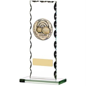 Curling Glass Plaque - D721