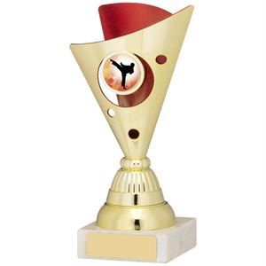 Flare Gold & Red Cup Trophy - A0954