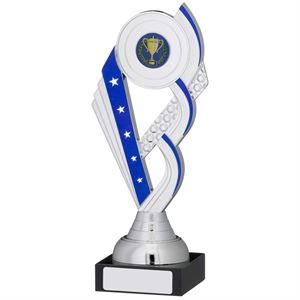 Multi-Sport Silver & Blue Trophy - A0933