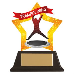 Mini-Star Trampolining Acrylic Plaque - AC19701