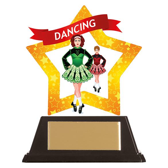 Mini-Star Irish Dance Acrylic Plaque - AC19648