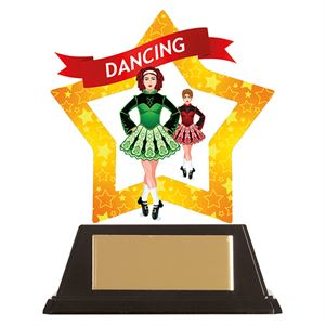 Mini-Star Irish Dance Acrylic Plaque - AC19648