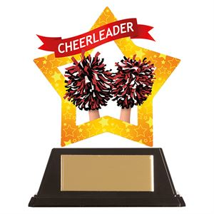 Mini-Star Cheerleader Acrylic Plaque - AC19639