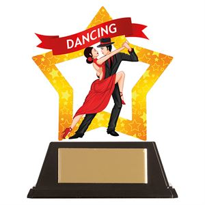 Mini-Star Ballroom Dancing Acrylic Plaque - AC19650