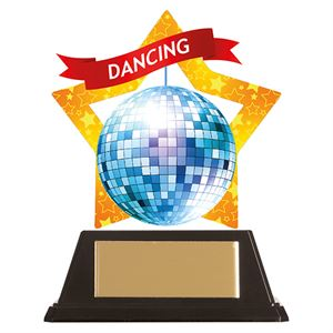 Mini-Star Glitterball Acrylic Plaque - AC19649