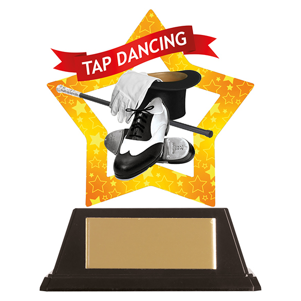 Mini-Star Tap Dancing Acrylic Plaque - AC19696