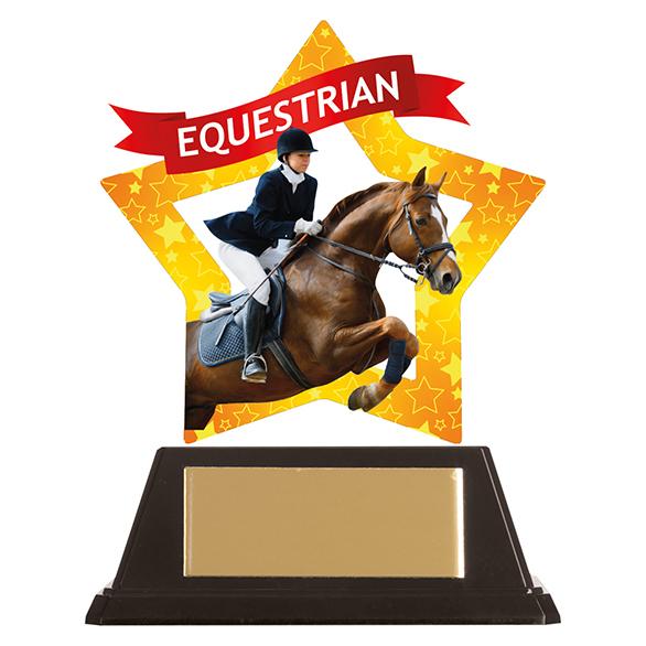 Mini-Star Equestrian Acrylic Plaque - AC19657