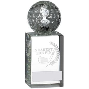 Nearest to the Pin Optic Glass Crystal Trophy - GLG12